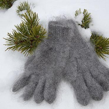 Accessories handmade. Livemaster - original item gloves men`s down. Handmade.