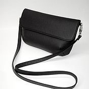 Сумки и аксессуары handmade. Livemaster - original item Clutch surround with leather strap,black. Small handbag.. Handmade.