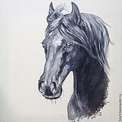Картины и панно ручной работы. Ярмарка Мастеров - ручная работа Портрет лошади. Handmade.