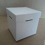 Материалы для творчества ручной работы. Ярмарка Мастеров - ручная работа кубик с крышкой из картона. Handmade.