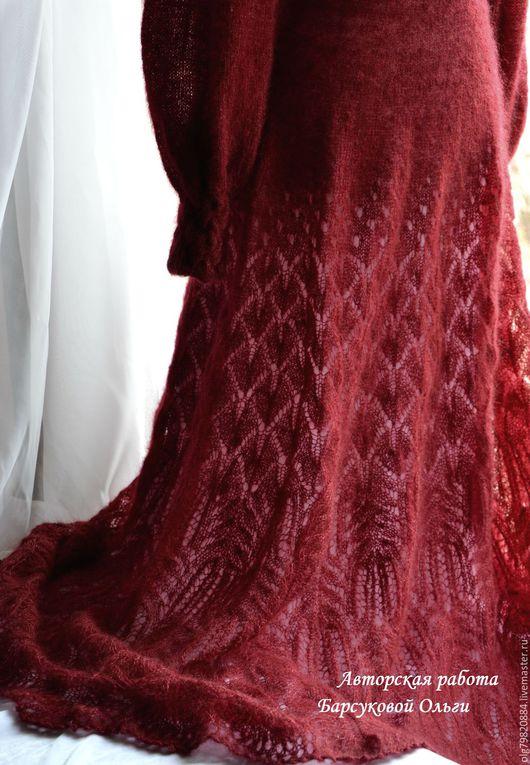 """Платья ручной работы. Ярмарка Мастеров - ручная работа. Купить Ажурное платье в пол из кидмохера на шелке """"Выход королевы"""". Handmade."""