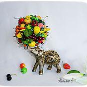 Подарки к праздникам ручной работы. Ярмарка Мастеров - ручная работа Слоник с фруктами. Handmade.