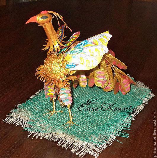 Миниатюрные модели ручной работы. Ярмарка Мастеров - ручная работа. Купить Сувенир-птица Феникс. Handmade. Птица, романтика, картон