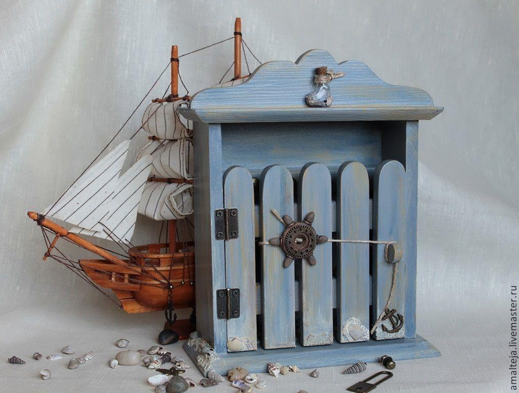 Ключница своими руками в морском стиле 9