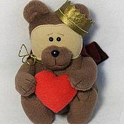 Куклы и игрушки ручной работы. Ярмарка Мастеров - ручная работа Флисовый мишка Принц. Handmade.