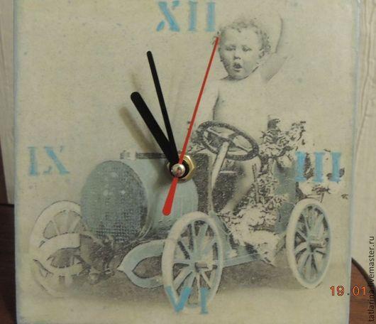 """Часы для дома ручной работы. Ярмарка Мастеров - ручная работа. Купить Часики для детской """"ЭХ прокачу"""". Handmade. Часы, механизм"""