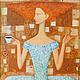 Люди, ручной работы. Ярмарка Мастеров - ручная работа. Купить Утренний кофе. Handmade. Коричневый, кофе, утро, картина, урбинский