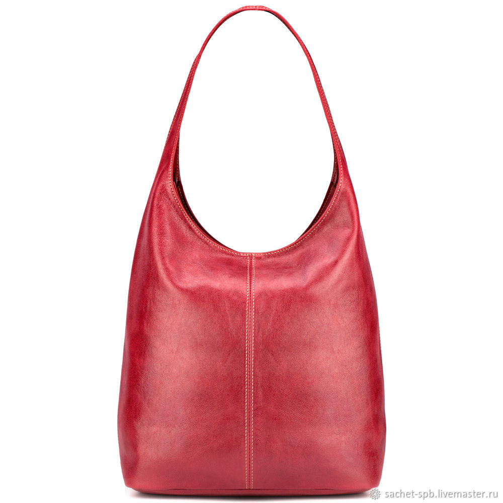 Womens leather bag 'Vintage New' (red), Classic Bag, St. Petersburg,  Фото №1