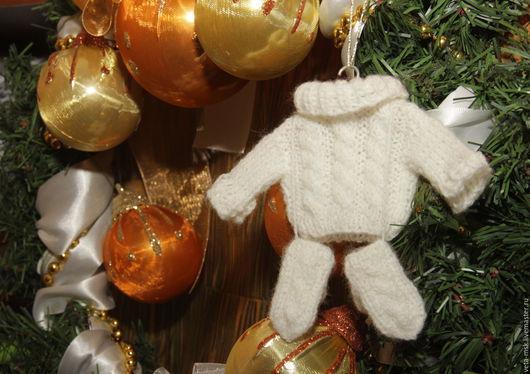 Новый год 2017 ручной работы. Ярмарка Мастеров - ручная работа. Купить Зимний комплект мини одежды для Новогодней елочки. Handmade.