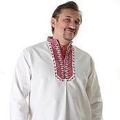 Русский стиль ручной работы. Ярмарка Мастеров - ручная работа Вышиванка мужская 001. Handmade.