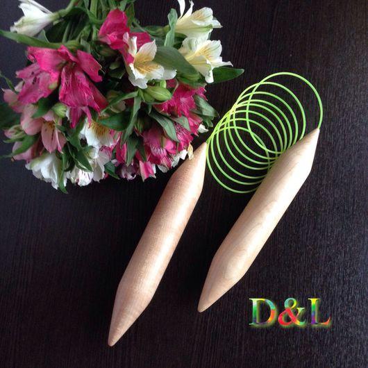 Вязание ручной работы. Ярмарка Мастеров - ручная работа. Купить Спицы круговые для вязания 25 мм. Handmade. Бежевый, спицы