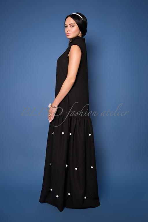Платья ручной работы. Ярмарка Мастеров - ручная работа. Купить Платье из трикотажа 00075. Handmade. Черный, blind, индивидуальный пошив