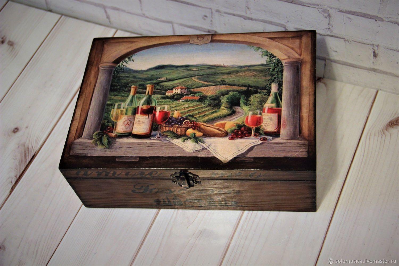 "Шкатулка для хранения чая""Солнечная Тоскана"", Кухня, Краснодар, Фото №1"