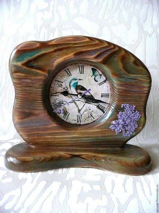 Часы настольные, настольные часы, часы деревянные, часы обжиг, часы брашированные, часы декупаж,  часы для дома, для дачи, для офиса,старинные часы,часы из дерева, купить в Краснодаре