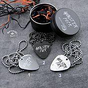 Украшения handmade. Livemaster - original item Pendant: Pick with engraving - stainless steel. Handmade.