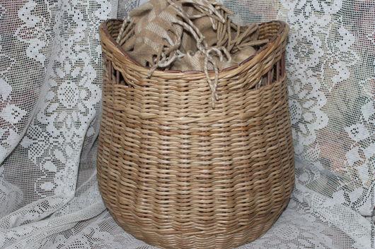 Корзины, коробы ручной работы. Ярмарка Мастеров - ручная работа. Купить Корзина плетеная, натурального цвета.. Handmade. Плетение из бумаги