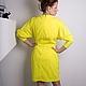 """Платья ручной работы. Солнечное легкое платье с аппликацией из роз """"Солнечная нега"""". SILIRA BRAND Дизайнерская одежда. Интернет-магазин Ярмарка Мастеров."""