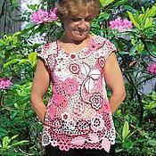 Одежда ручной работы. Ярмарка Мастеров - ручная работа Красивая розовая кофточка. Handmade.