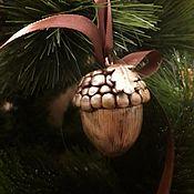 Елочные игрушки ручной работы. Ярмарка Мастеров - ручная работа Елочные игрушки: Жёлуди на ёлку. Handmade.
