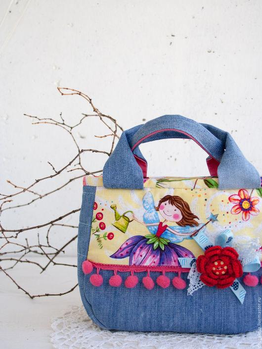 Женские сумки ручной работы. Ярмарка Мастеров - ручная работа. Купить Сумочка для девочки, джинсовая сумка. Handmade. Голубой, девочкам