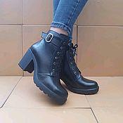 Ботинки ручной работы. Ярмарка Мастеров - ручная работа Ботинки: Ботинки женские. Handmade.