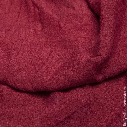 Хлопок шифон красное вино Шелковистый, легкий, мягкий, дышащий и нежный хлопковый шифон с добавлением нитей вискозы.