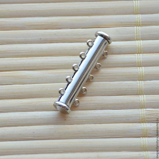 Для украшений ручной работы. Ярмарка Мастеров - ручная работа. Купить Магнитный замок на 5 нитей 30 мм. Handmade.