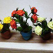Сувениры и подарки ручной работы. Ярмарка Мастеров - ручная работа Розы в горшочках (квиллинг). Handmade.