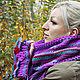 Комплект. Вязаный шарф и митенки, Шарфы, Санкт-Петербург, Фото №1