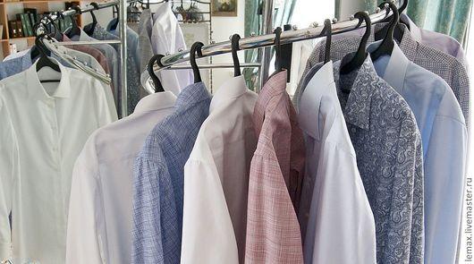 Для мужчин, ручной работы. Ярмарка Мастеров - ручная работа. Купить Мужская сорочка. Handmade. Однотонный, мужская одежда, для мужчин