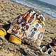 собака, море, сумка, хлопок, винтаж, желтый, бежевый, песочный, бирюза, белый, сумка на плечо, работа на заказ, индивидуальная работа, шоколад, коричневый, рыжий, сава, италия, ярмарка мастеров