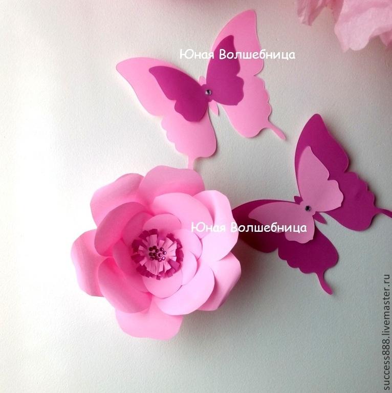Картины с цветами и бабочками