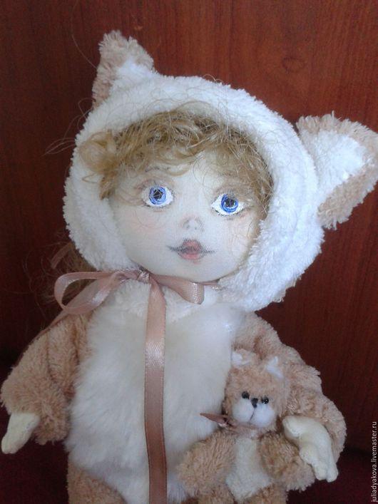 Коллекционные куклы ручной работы. Ярмарка Мастеров - ручная работа. Купить кися. Handmade. Комбинированный, кукла текстильная
