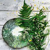 """Для дома и интерьера ручной работы. Ярмарка Мастеров - ручная работа Тарелка """"Травы"""". Handmade."""