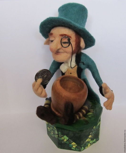 Коллекционные куклы ручной работы. Ярмарка Мастеров - ручная работа. Купить Лепрекон с заветным горшочком. Handmade. Лепрекон, сказочные существа