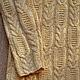Кофты и свитера ручной работы. Вязаный свитер с косами. Knitted Sea. Ярмарка Мастеров. Пуловер с косами, теплый свитер