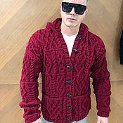 Мужская одежда handmade. Livemaster - original item Men`s hooded cardigan. Handmade.