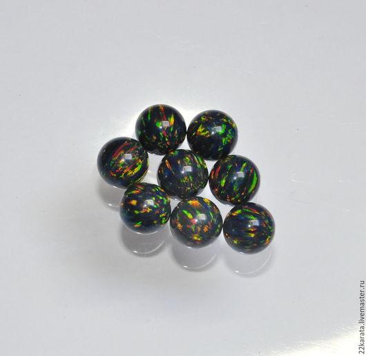Для украшений ручной работы. Ярмарка Мастеров - ручная работа. Купить Опал синтетический шар, микс (сине-зеленый), 12. Handmade.