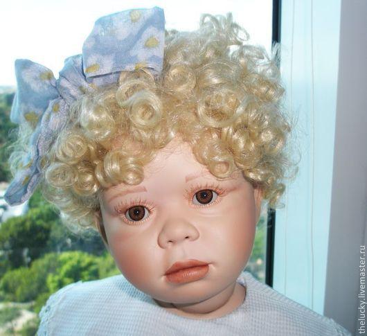 Винтажные куклы и игрушки. Ярмарка Мастеров - ручная работа. Купить Фарфор Коллекционная Кукла Для Гостиной. Handmade. Голубой, винтаж