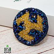 Украшения handmade. Livemaster - original item Embroidered brooch Antakarana. Handmade.