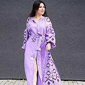 Одежда handmade. Livemaster - original item Embroidered Dress Lilac Embroidered Vyshyvanka Dress. Handmade.