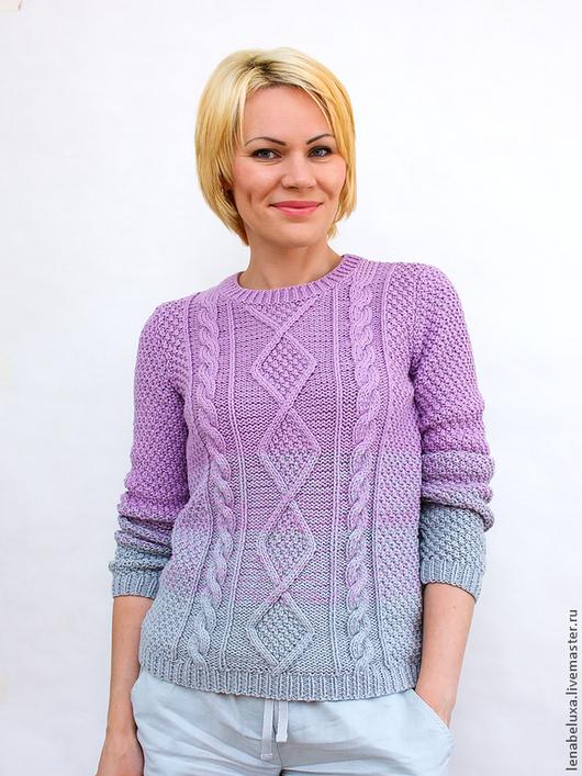 Вязаный пуловер доставка