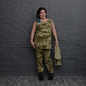 Одежда handmade. Livemaster - original item Camouflage tank top with slits. Art. 1578. Handmade.