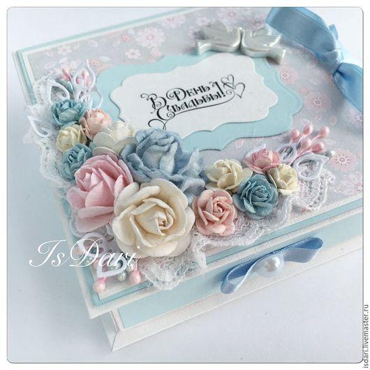 """Конверты для денег ручной работы. Ярмарка Мастеров - ручная работа. Купить Коробочка для денег """"В день свадьбы"""". Handmade. цветы"""