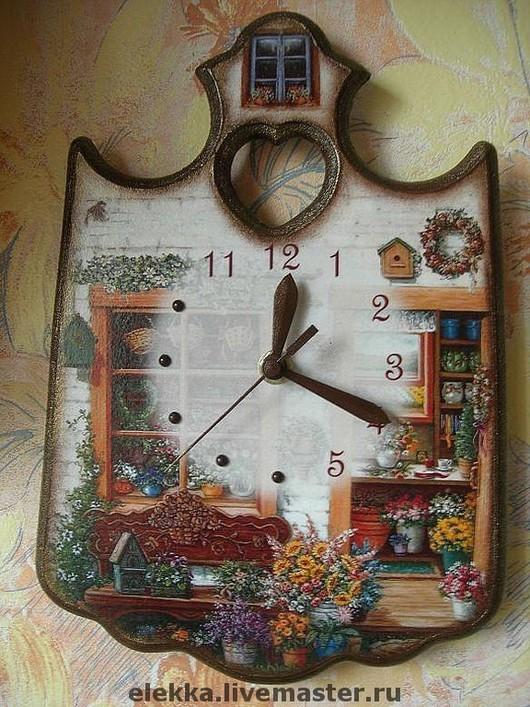 "Часы для дома ручной работы. Ярмарка Мастеров - ручная работа. Купить Часы ""Мой сад"". Handmade. Часы, часы декупаж"