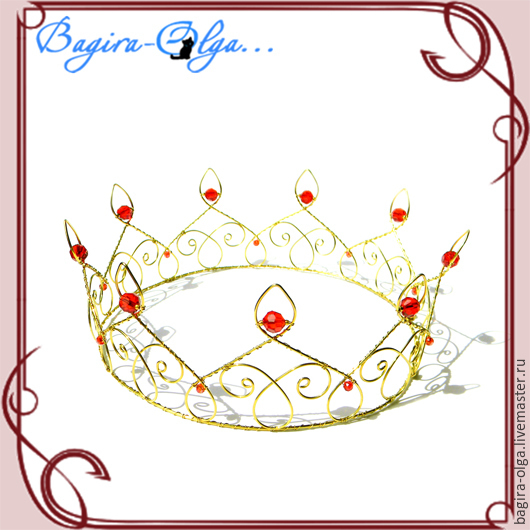 """Свадебные украшения ручной работы. Ярмарка Мастеров - ручная работа. Купить корона """"Король"""". Handmade. Корона, золотой, корона для фотосессии"""