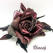 Цветы и флористика handmade. Livemaster - original item rose brooch . Silk flowers,cloth flowers.. Handmade.