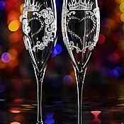 """Свадебный салон ручной работы. Ярмарка Мастеров - ручная работа Свадебные бокалы """"Reale"""". Handmade."""