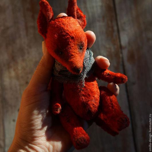 Мишки Тедди ручной работы. Ярмарка Мастеров - ручная работа. Купить Лисичка. Handmade. Ярко-красный, лиса, опилки