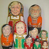 Подарки к праздникам ручной работы. Ярмарка Мастеров - ручная работа Матрешка семейная юбилейная высотой 30 см из 9 кукол в русских костюма. Handmade.